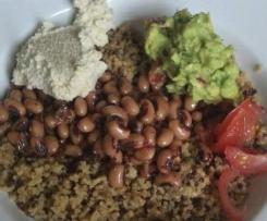 Mexican Quinoa Bowls with Cashew Cream (vegan)