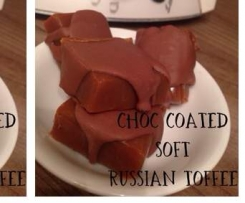 Thermonat's choc coated soft Russian toffee