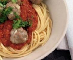 Kangaroo Meatballs with Tomato Sauce & Spaghetti