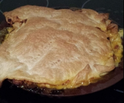 Honey mustard chicken family pie