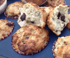 Chia, banana and chocolate muffins (egg free)