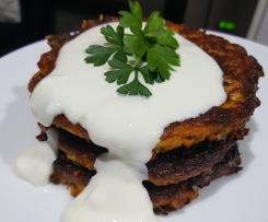 Quick & Versatile Vegetable Fritters with Yoghurt Dressing