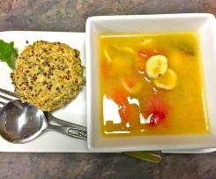 Chicken Quinoa Rissoles With Orecchiette Pasta Soup