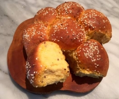 Sweet potato and mixed seed rolls