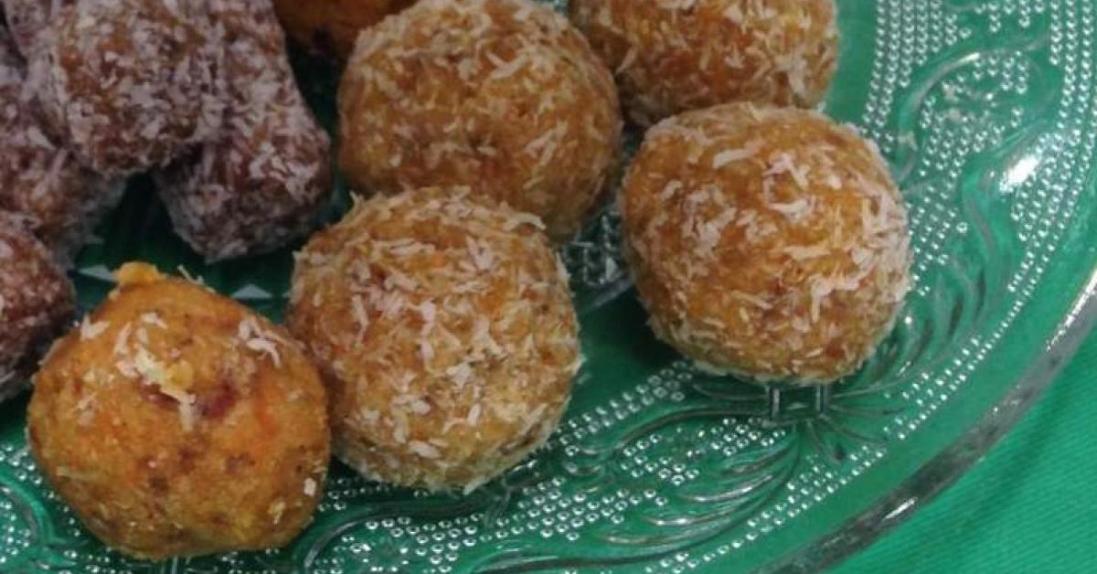 Raw Carrot Cake Balls Thermomix