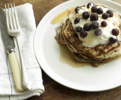 Apple & Blueberry Pancakes