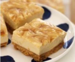 Salted Caramel Cheese Cake Slice (No Bake)