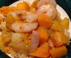 Red Thai Prawn and Mango Curry