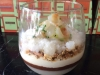 Lychee and rose layered dessert