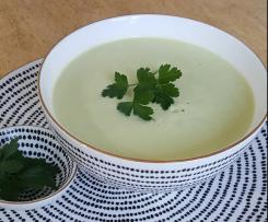 Cream of Celery Soup for Two with protein option