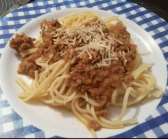 HIDDEN VEGETABLE Spaghetti bolognese mince