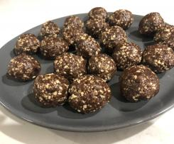 Peanut butter brownie bliss balls