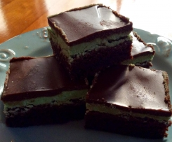 Mint Brownie With Chocolate Ganache