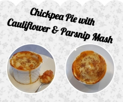 Chickpea Pie with Cauliflower & Parsnip Mash