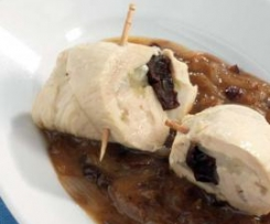 Chicken Roulades with Onions and Prunes