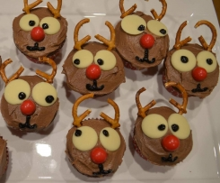 Rudolph Christmas Cupcakes