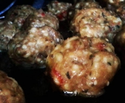 Middle Eastern Eggless Gluten Free Meatballs
