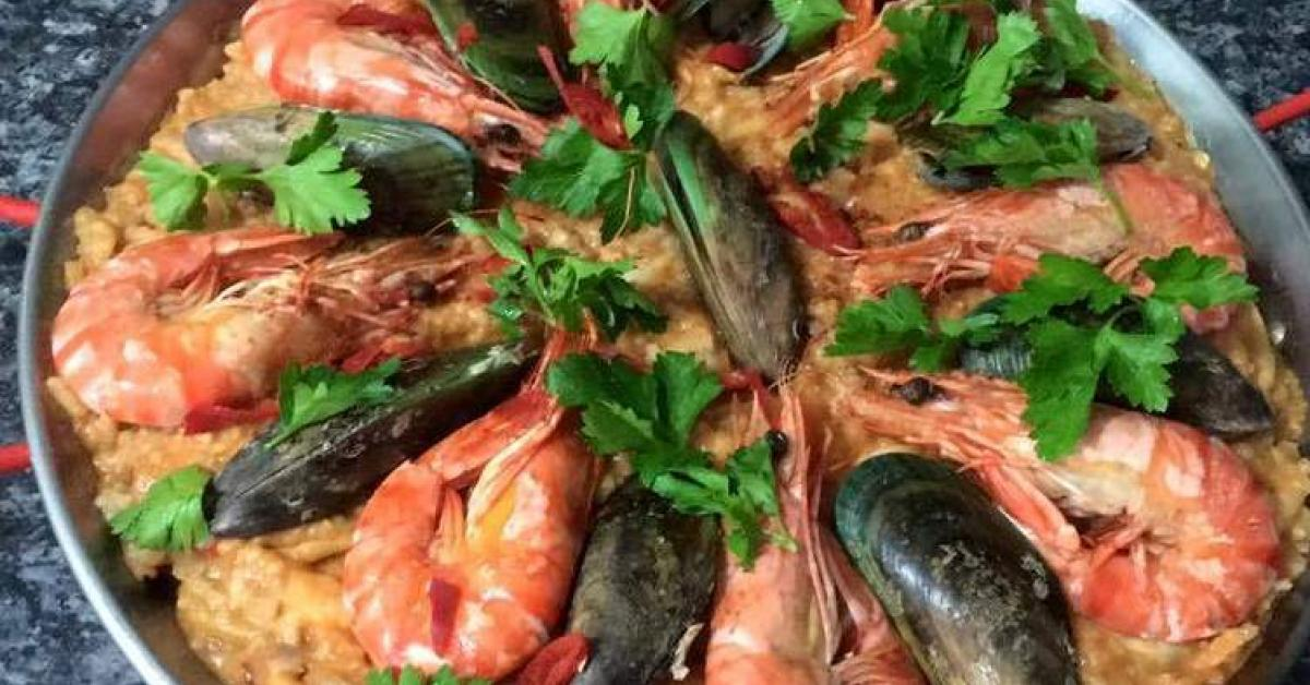 SEAFOOD CHORIZO PAELLA by macs30. A Thermomix ® recipe in ...