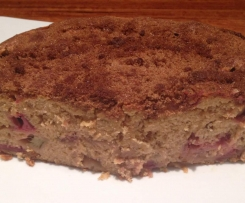 Rhubarb Sour Cream Cake