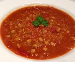 Chickpea, Tomato & Quinoa Soup (Veg & Gluten Free)