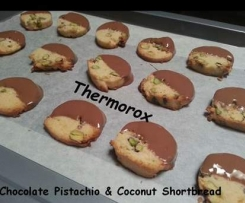 Chocolate Pistachio & Coconut Shortbread