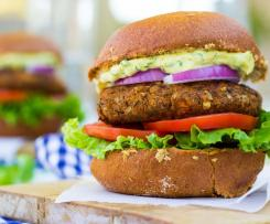 Brown Rice & Lentil Burgers