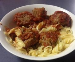 Clone of Kangaroo Meatballs with Tomato Sauce & Spaghetti