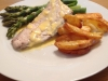 Beurre Blanc with Steamed Asparagus and Fish Fillets