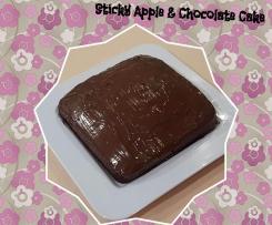Sticky Apple & Chocolate Cake