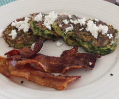 Zucchini & green pea fritters