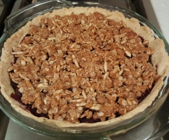 Apple berry crumble pie - Wheat free