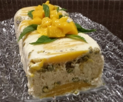 Mango & Pistachio Icecream Log