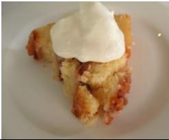 Cinnamon Peach Cake