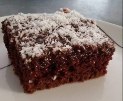 Chocolate Coconut Sponge Brownies
