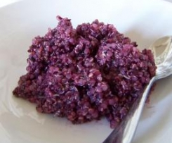 Blueberry Quinoa with Cinnamon and Honey