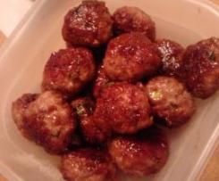 Pear Glazed Chicken Meatballs