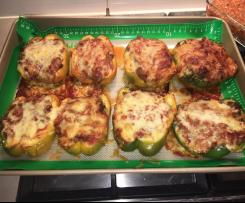 Stuffed capsicums or peppers
