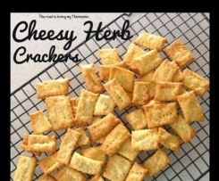 Cheesy Herb Crackers