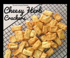 Cheesy Herb Crackers