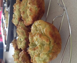 Zucchini and red onion muffins - gluten and dairy free