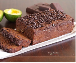 Avocado Chocolate Bread- from Living Healthy with Chocolate