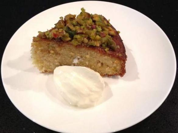 Jamie's Greek Honey & Pistachio Cake