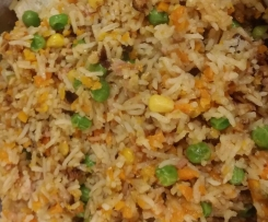 Non-Fried Fried Rice with Shitake mushrooms