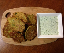 Cauliflower and cumin fritters with lime yoghurt