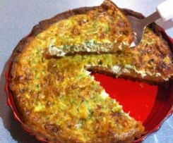 Salmon and Cheese Quiche