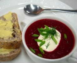 Creamy Beetroot and Carrot Soup