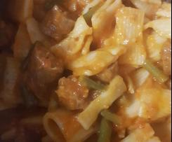Tomato sausage pasta