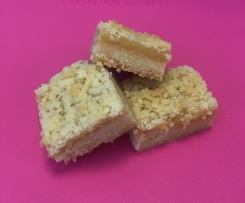 Lemon curd shortbread slice