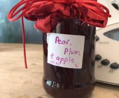 Pear, Plum and Apple Jam
