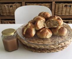 Salted Caramel and Pecan Hot Cross Buns